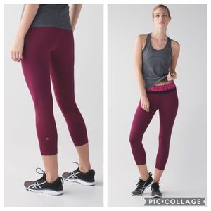 Lululemon Run Inspire Crop ll Mesh Ace Spot Purple